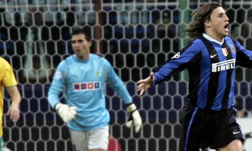 MATCHVINNER: Hernan Crespo sørget for Inter-seier. Foto: REUTERS