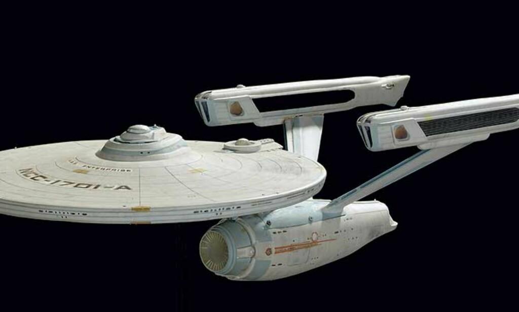 STARSHIP ENTERPRISE: I TV-serien Star Trek reiser man med lysets hastighet, og sparer dermed mye tid på reisen til nye planeter. Foto: SCANPIX/AP