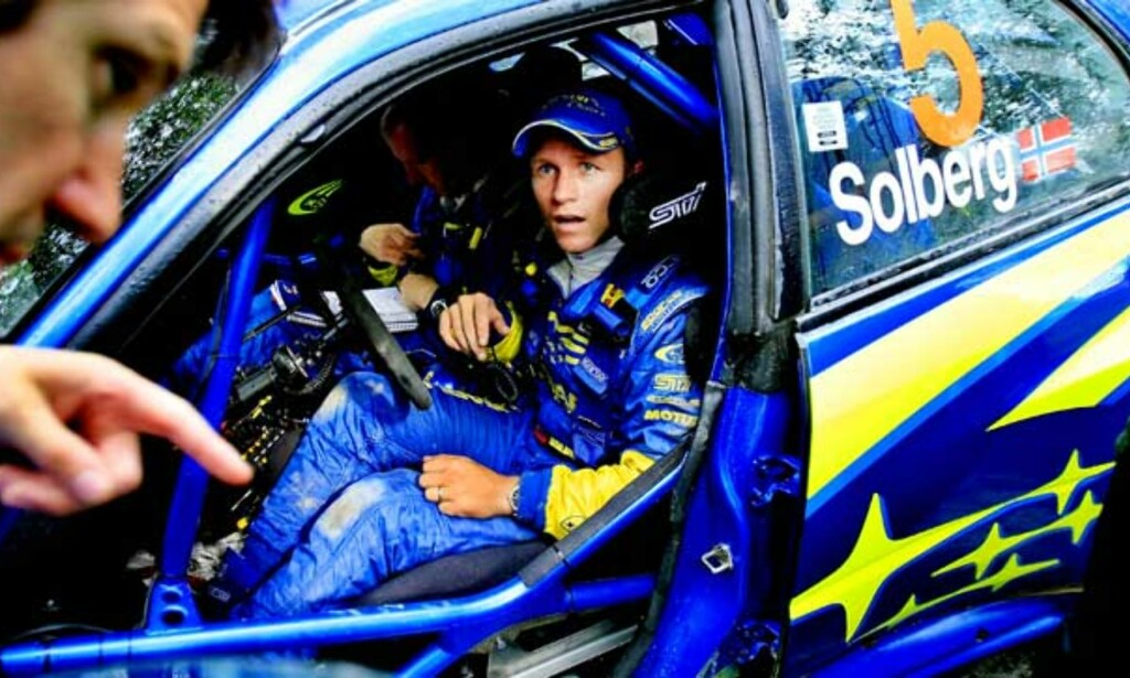 GROMBIL:    Petter Solberg har testet 2007-modellen av Subarus rallybil. Og er såpass imponert at han tillater seg å drømme om topplasseringer         igjen. Foto: Daniel Sannum Lauten