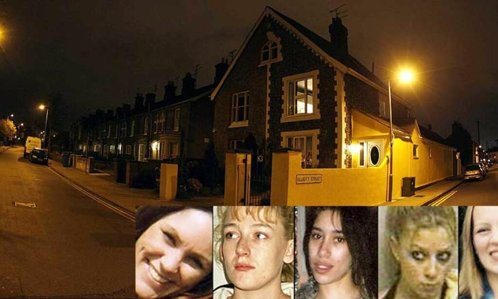 FOLKETOMME GATER I IPSWICH: Til tross for at det er midt i julebordsesongen, var det nærmest folketomt i gatene i Ipswich fredag kveld. Politiet trygler prostituerte om å holde seg innendørs etter at fem kvinner fryktes drept. Fra venstre: Annette Nicholl (29), savnet, Paula Clennell (24), savnet, Tania Nicol (19), funnet drept, Anneli Alderton (24), funnet drept, Gemma Adams (25), funnet drept. Foto: REUTERS/AP