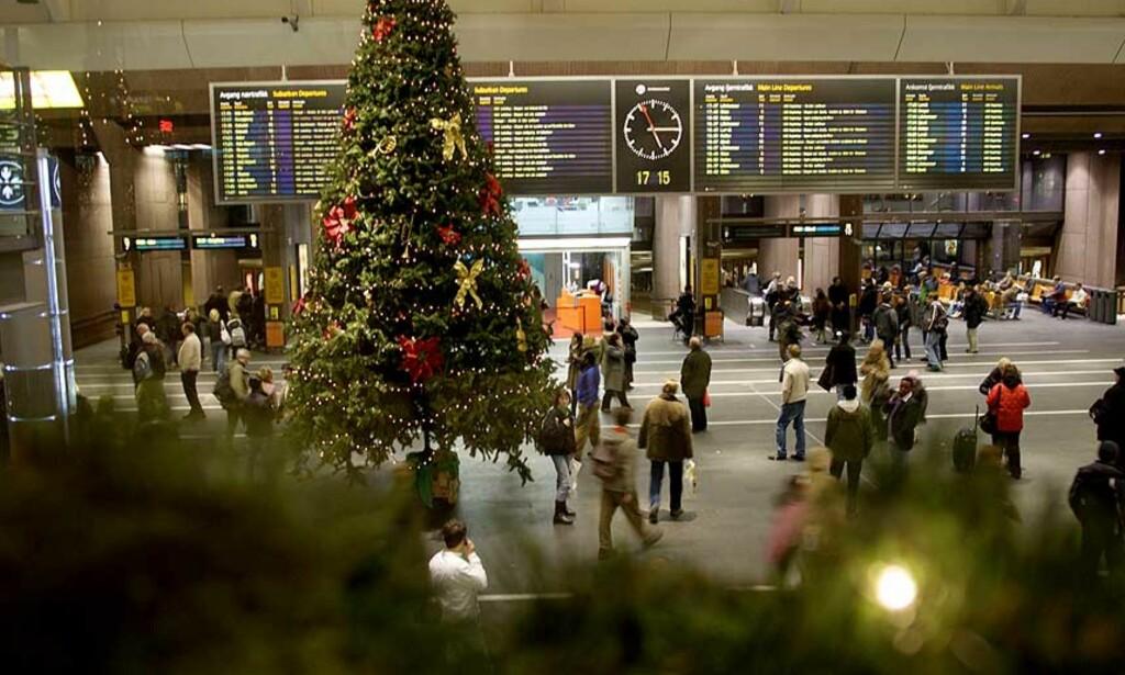ALT PÅ SKINNER: Togene er i rute. Foto: Scanpix