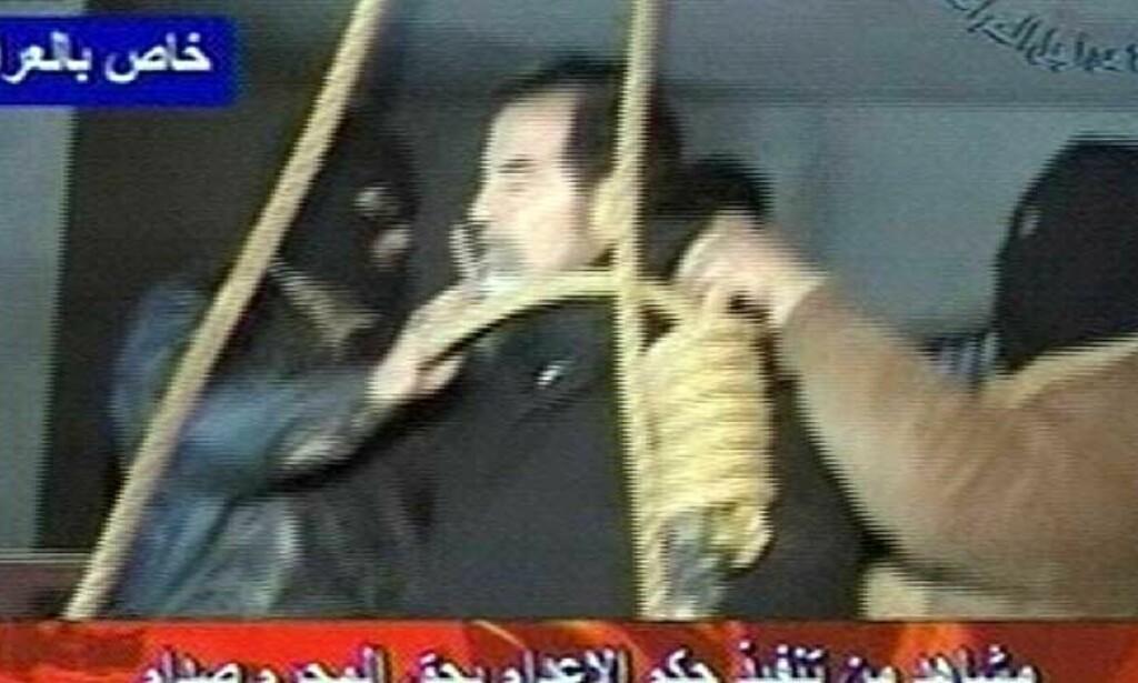 NEKTET Å HA PÅ HETTE: Saddam Hussein hengt i dag tidlig. Foto: AP/ SCANPIX