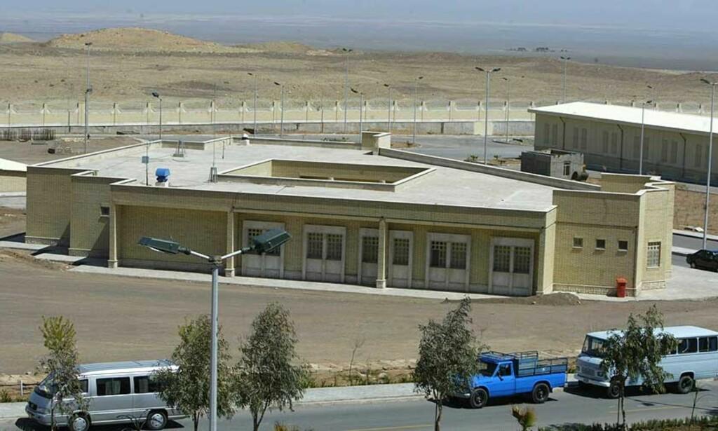 INGEN FARE: Atomanlegget i Natanz, Iran, får stå i fred litt til, skal vi tro det israelske utenriksdepartementet. Foto: Scanpix / AFP