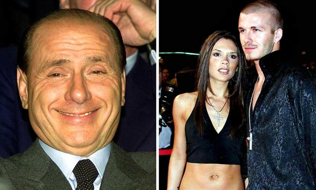 BECKHAM-FAN: Milan-president Silvio Berlusconi har lenge ønsket David Beckham til Milano, men klarte ikke å overtale Becks denne gangen heller. Foto: AP