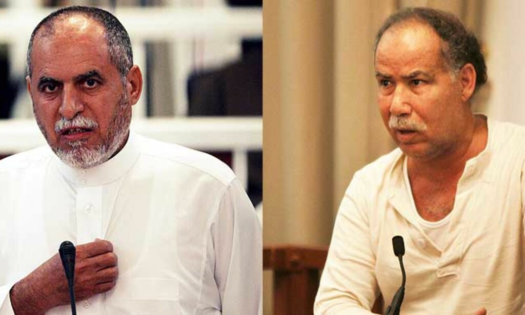 HENRETTET: Awad Hamed al-Bandar (t.v.) og Barzan Ibrahim. Foto: EPA/SCANPIX