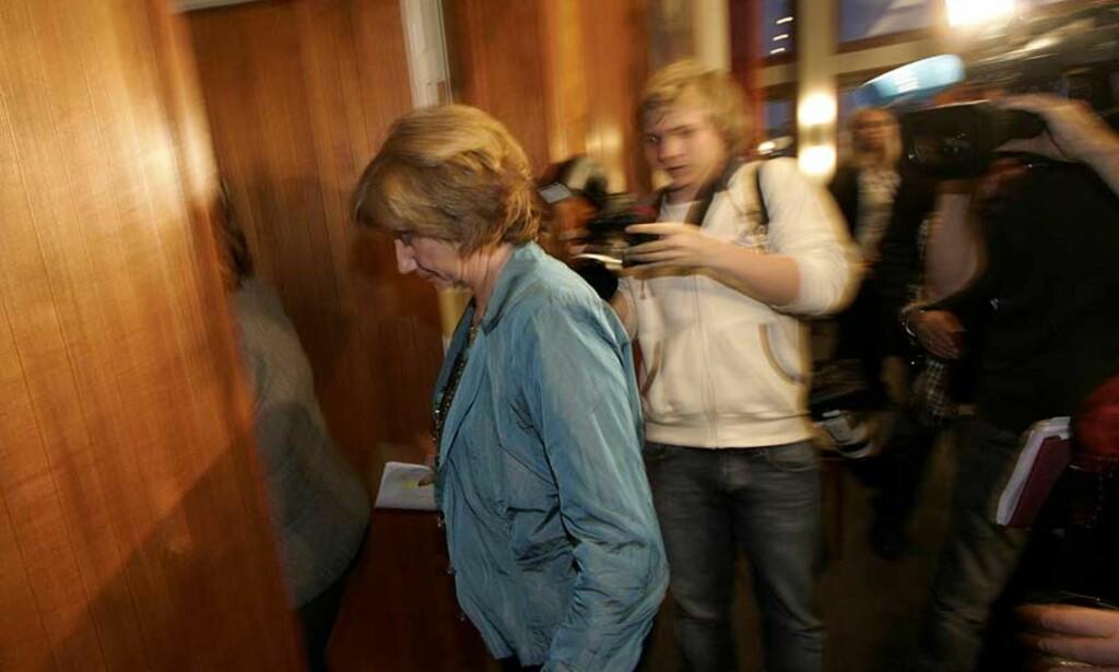 I MØTE:  Akkurtat nå møter Gerd-Liv Valla  forbundslederne i LO. Utfallet av møtet i LO-sekretariatet er høyst usikkert. Foto: SCANPIX