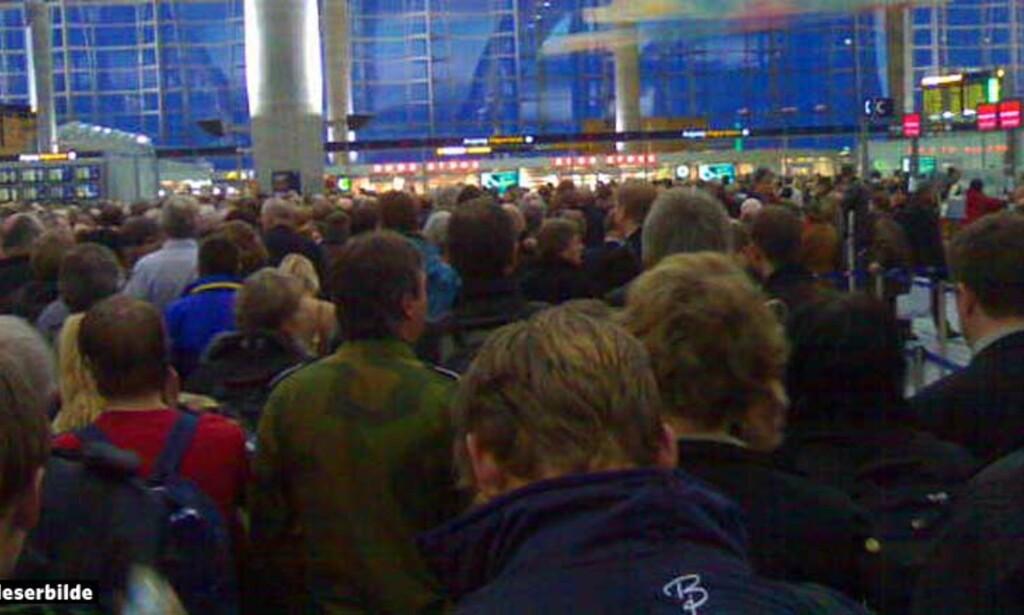 image: Store forsinkelser etter terrorfrykt på Gardermoen