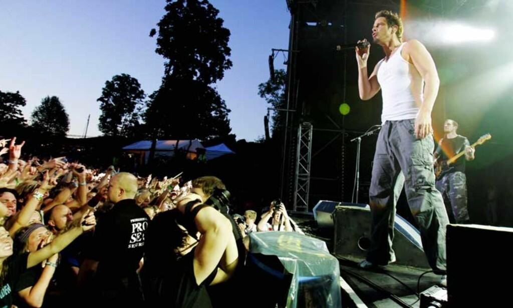 Audioslave er oppløst. Her fra Quartfestivalen i 2005.