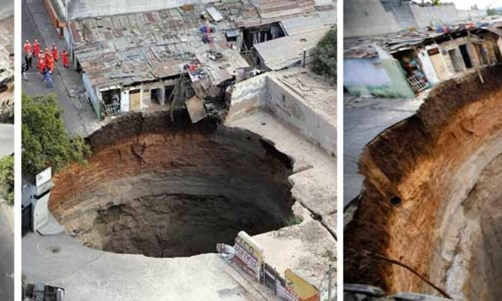 image: Bakken kollapset og slukte hus