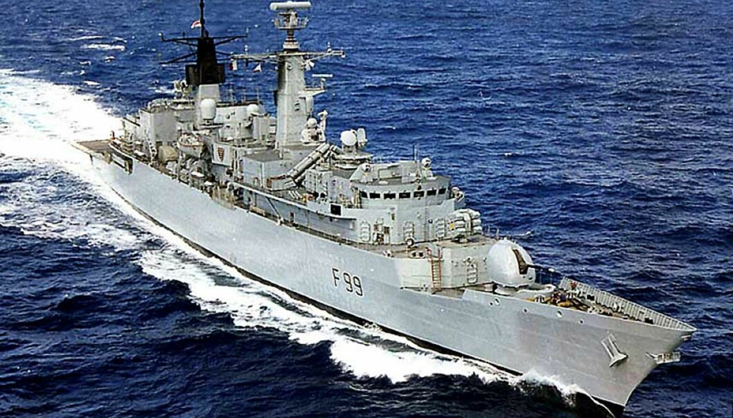 <strong><b>I BRÅK:</strong></b> HMS «Cornwall». Foto: DEN BRITISKE MARINEN/SCANPIX