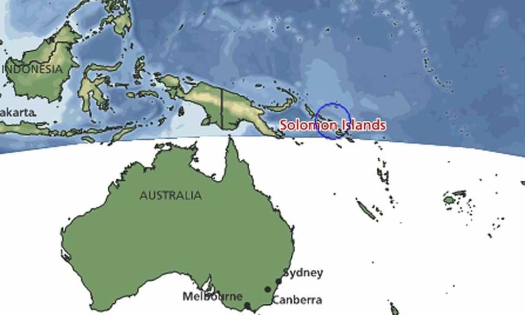 salomonøyene kart Tsunami rammet Salomonøyene   Dagbladet salomonøyene kart
