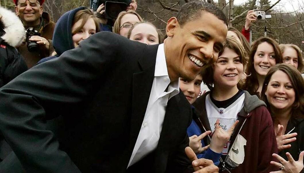 <strong><b>OBAMA FIKK 150 MILLIONER:</strong></b> Demokratenes presidentkandidat Barack Obama har gavmilde sponsorer. Foto: Reuters/Scanpix