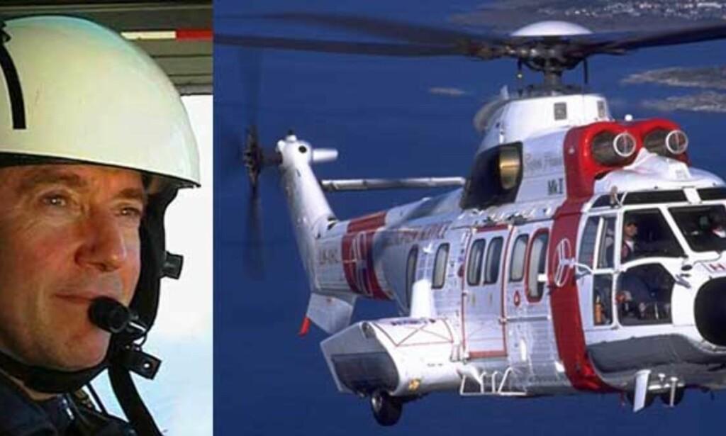 MILLIONERSTATNING: Helikopterpilot Amund-Ragnar Bjerkeseth har fått invalidiserende tinnitusplager etter å ha fløyet oljearbeidere ut i Nordsjøen i en årrekke. Foto: Privat/Scanpix