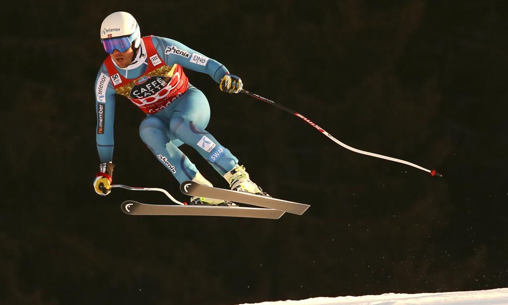 VANT: Kjetil Jansrud vant dagens super-G-renn i Val Gardena. Aleksander Aamodt Kilde endte på andreplass, mens Aksel Lund Svindal kjørte ut. Foto: Reuters