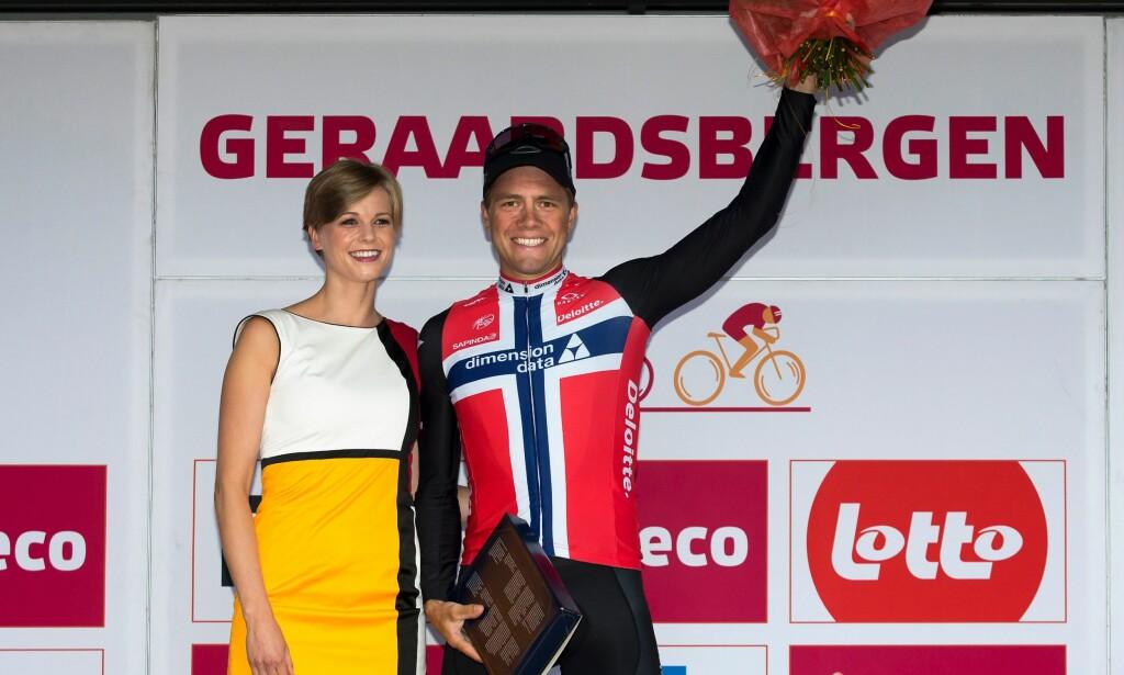 MER JUBEL?: Boasson Hagen feirer etappeseieren i Eneco Tour. Neste sesong jakter han flere triumfer. AFP PHOTO / Belga / KRISTOF VAN ACCOM