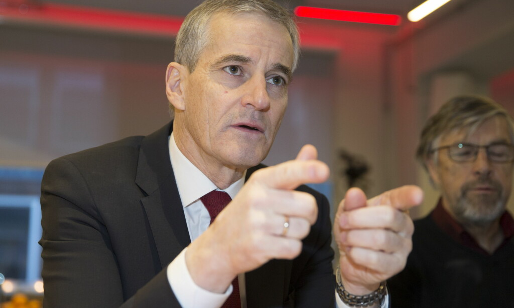 ØKER: Ap-leder Jonas Gahr Støre kan konstatere at Høyre går tilbake og Ap går fram på Ipsos' desembermåling. Foto: Terje Pedersen / NTB Ccanpix