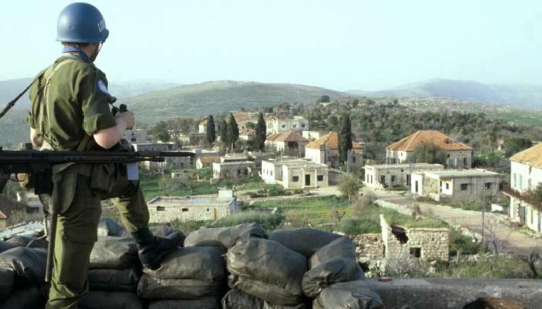 <strong><b>INGEN VEI UTENOM:</strong></B> Det finnes ingen snarvei utenom FN, skriver statssekretær i Forsvarsdepartementet, Espen Barth Eide. Bildet viser FN-styrker med folkerettslig mandat i Libanon. Foto: Scanpix og Forsvaret
