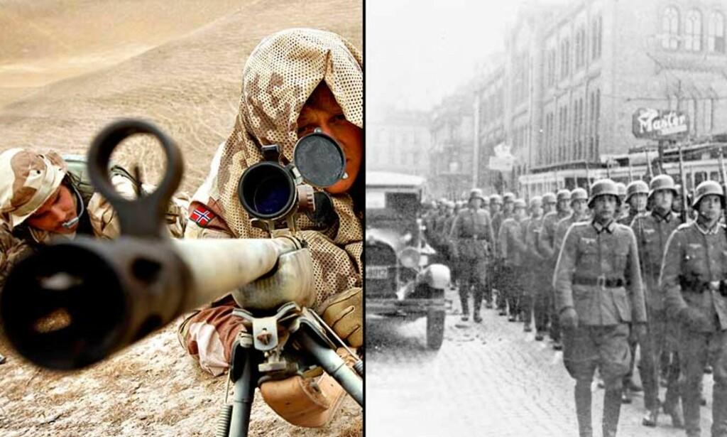 SAMMENLIKNER NORSKE SOLDATER OG NAZISTENES OKKUPASJON: Mens debatten om norske soldater i Afghanistan er under oppseiling i regjeringspartiene, tar partiet Rødt bladet fra munnen. Foto: Scanpix