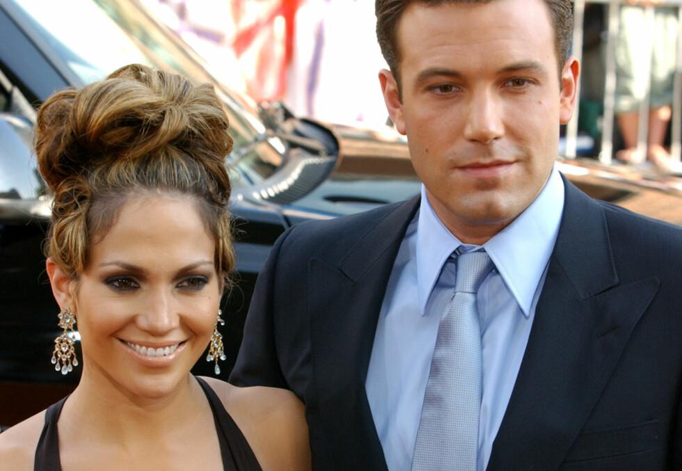 YNDET OBJEKT: Jennifer Lopez og Ben Affleck ble regnet som et av de største parene i Hollywood på begynnelsen av 2000-tallet. Foto: NTB scanpix