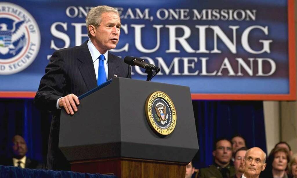 VETO BLIR STÅENDE:  Demokratene i Kongressen klarte ikke å oppnå det flertallet de trengte for å sette til side president George W. Bush sitt veto mot torturforbud. Foto:  EPA  /MANNIE GARCIA