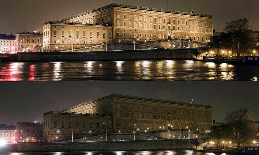 MILJØFOKUS: Drottningholms slott blir mørklagt en time lørdag kveld. Det svenske kongehuset støtter den internasjonale aksjonen «Earth Hour» som skal skape bevissthet om nødvendigheten av energisparing. Foto: REUTERS/SCANPIX
