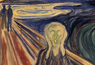 <strong>LIKHET:</strong> Edvard Munch snudde seg nok ikke i graven da Kirta Nielsen Svendsen lagde sin versjon av hans berømte verk. Foto: NTB Scanpix