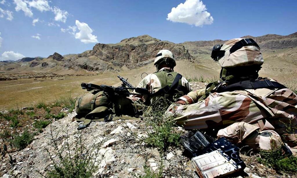 KUTTES I JULI: Det blir færre norske tjenestemenn i Mazar-e Sharif i Afghanistan i tida framover. Foto: Lars Magne Hovtun / FORSVARET / SCANPIX