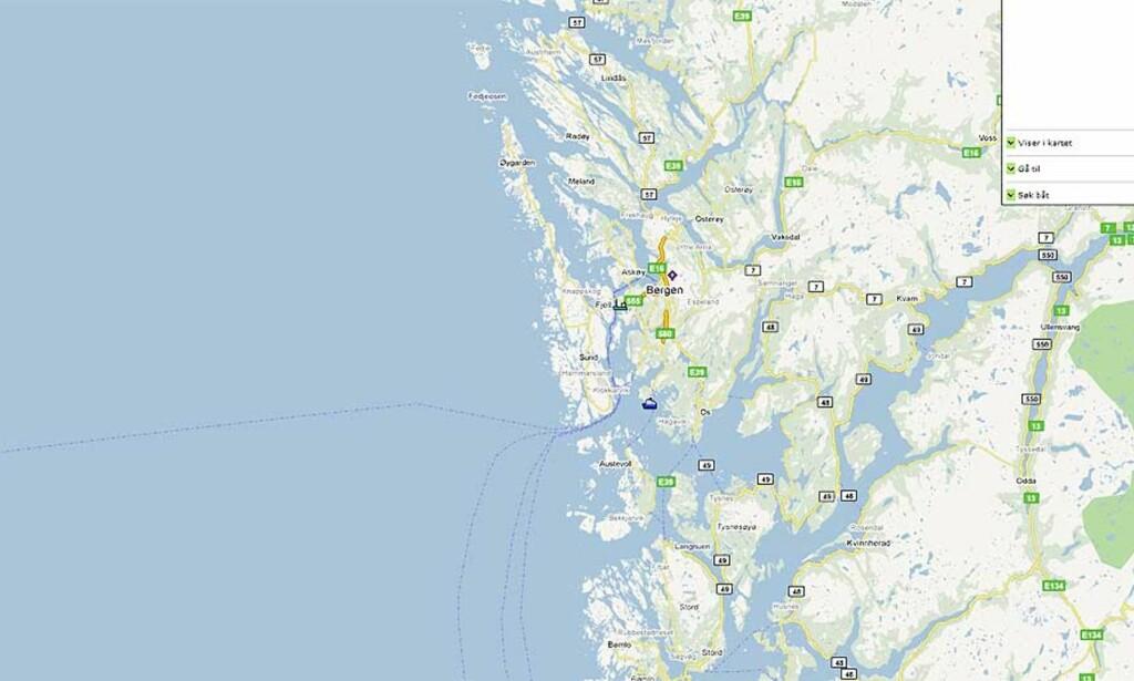STYRTET UTENFOR SOTRA: Flyet hadde tatt av fra Bergen lufthavn Flesland før det