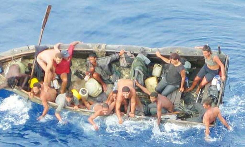 image: Norsk skip plukket opp båtflyktninger