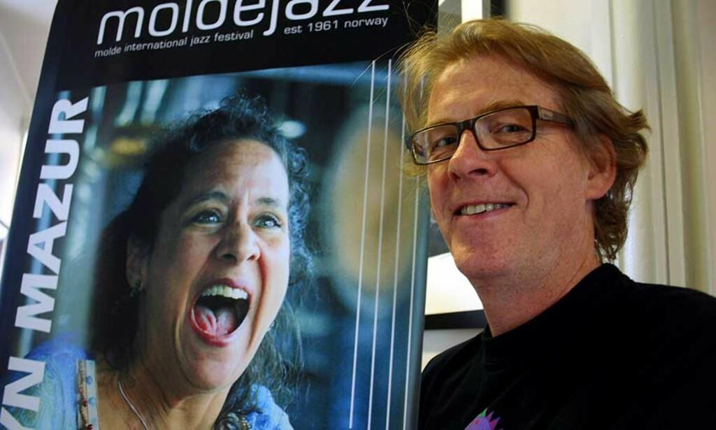 FORVENTNINGSFULL: Festivalsjef Jan Ole Otnæs ser veldig fram til å høre årets Artist in Residence, Marilyn Mazur, en av verdens ledende perkusjonister, under årets Moldejazz. Foto: SCANPIX/KJELL HERSKEDAL