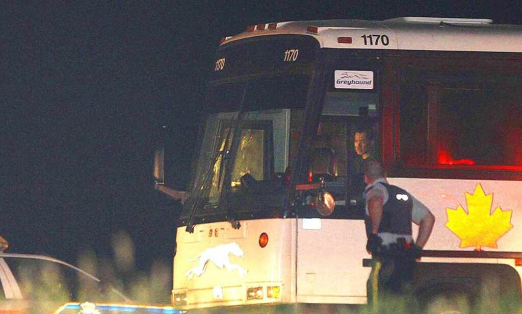 SKREKK-TUR: Det var på denne bussen ugjerningen skjedde. Foto: AP/SCANPIX