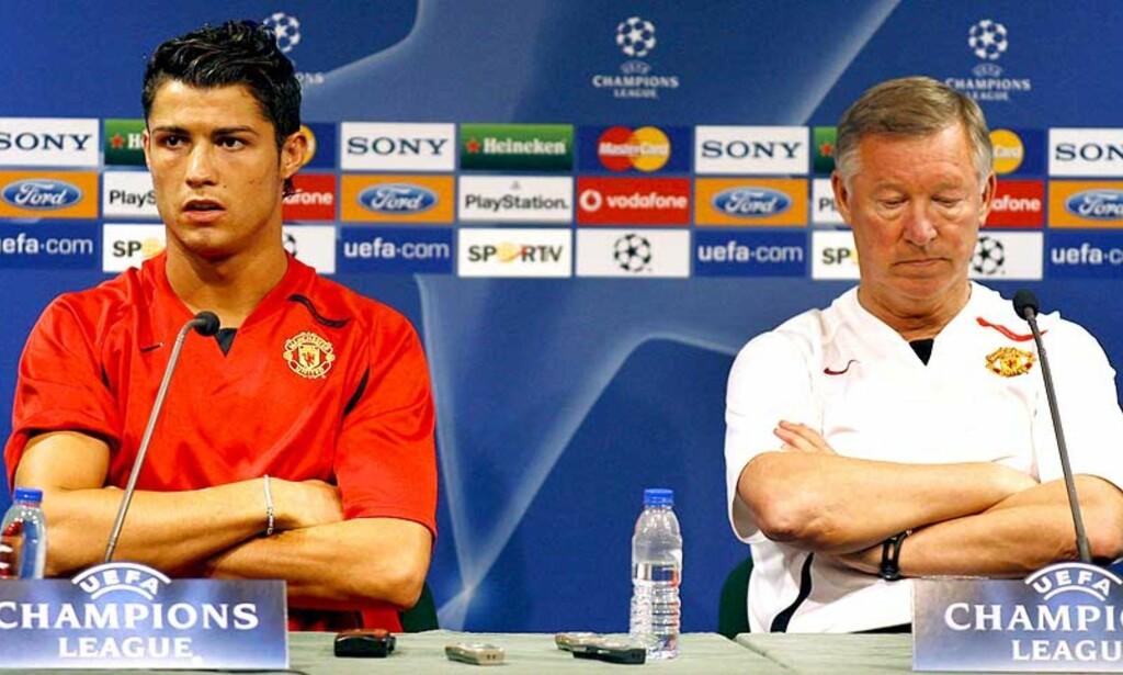 -UTAKKNEMLIG: Canal +-teamet har ingen sympati med Cristiano Ronaldo som må bli i United etter å ha ønsket en overgang til Real Madrid. Foto: Inacio Rosa/EPA