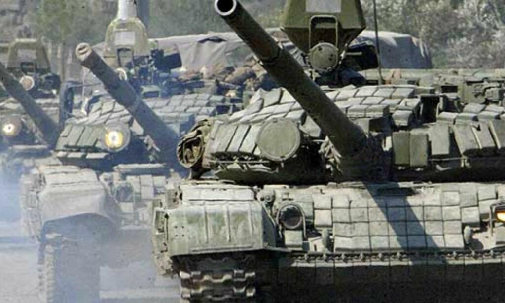 image: - 50 russiske tanks inn i Gori