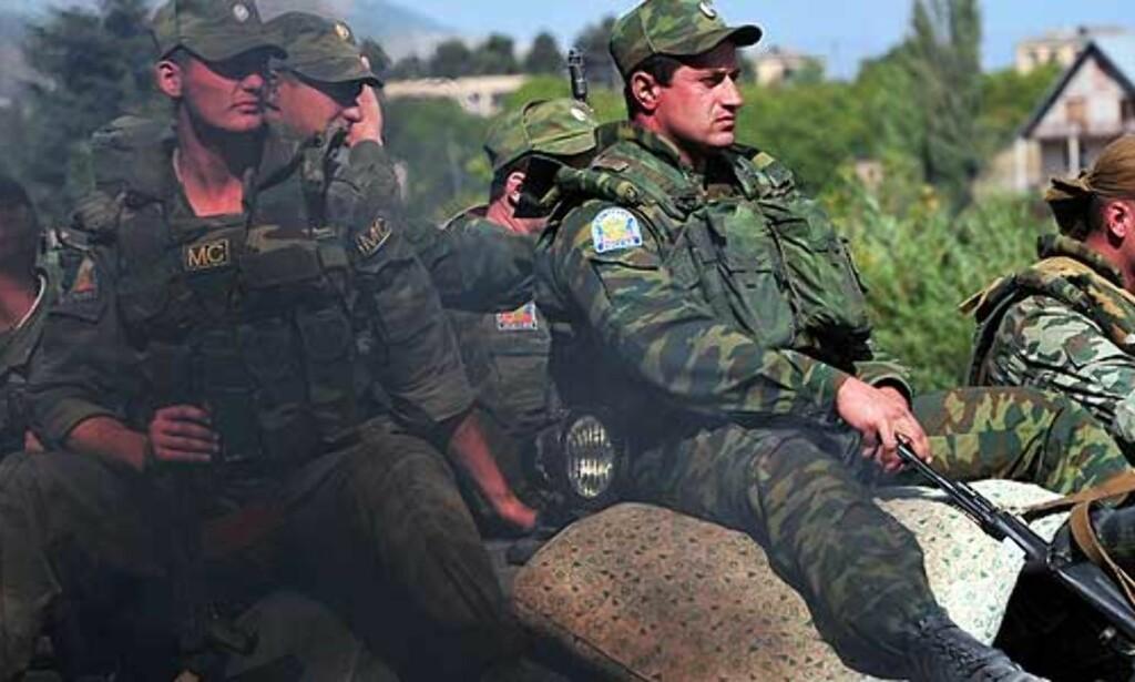 image: - Russiske soldater på vei hjem