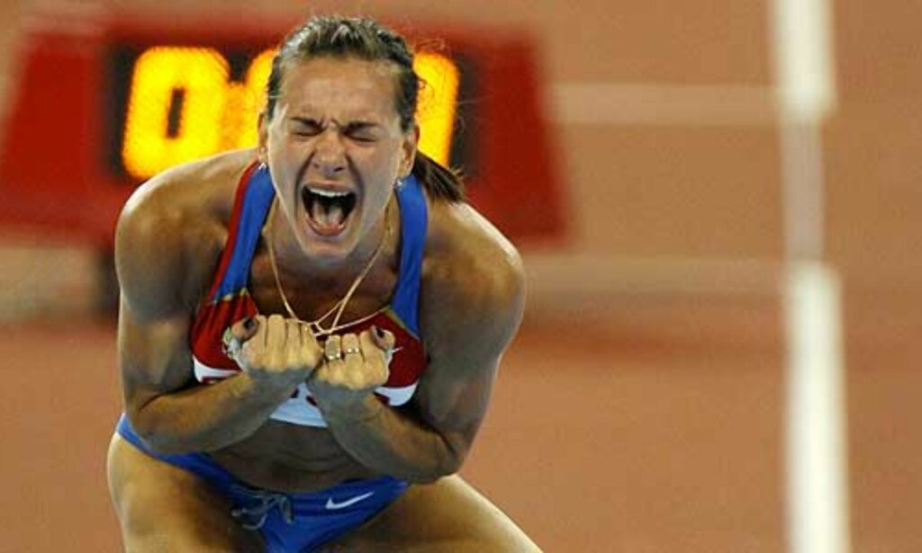 image: Suverene Isinbajeva vant med verdensrekord