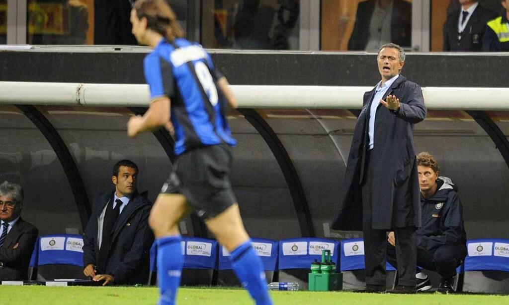 ELSKET OG HATET: Inter-manager Jose Mourinho bedriver sjelden selvsensur, og har allerede gjort seg bemerket med snakketøyet i Italia. Foto: AFP/SCANPIX
