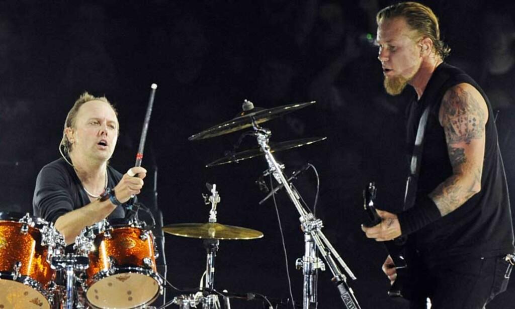 FÅR KRITIKK: Metallicas nye plate har for dårlig lyd, mener eksperter. Foreløpig har ikke bandet selv uttalt seg om saken. Foto: SCANPIX/AP