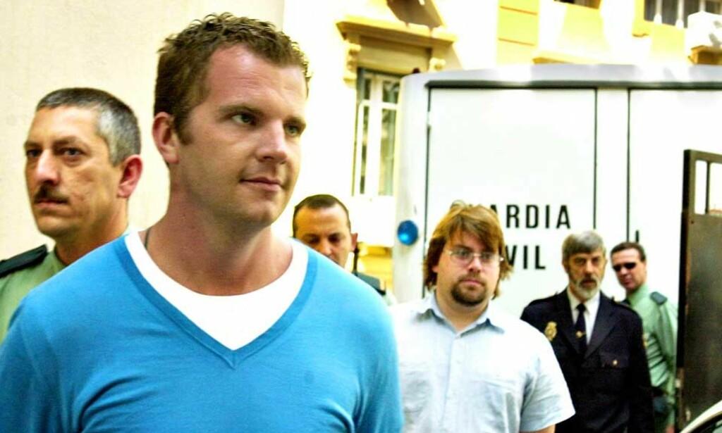 TATT SAMMEN MED TOSKA: I dag får Danny Bungard (32) Høyesteretts dom i Wonderboy-saken. David Toska t.h.) er allerede dømt i samme sak. De ble tatt sammen i Spania i 2005. Foto: DANIEL CHAVES
