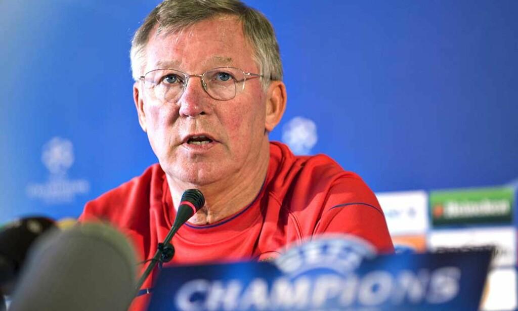 BOIKOTT: Alex Ferguson uttalte i går at han nekter å prate med engelsk presse frem til den dagen han gir seg i Manchester United. Bakgrunnen for dette er at han ble feilsitert i et intervju i Sør-Afrika før sesongen. Foto: Henning Bagger, Reuters/scanpix