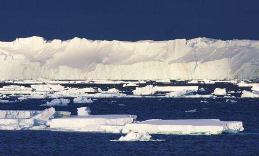 image: Isen smelter seks ganger raskere