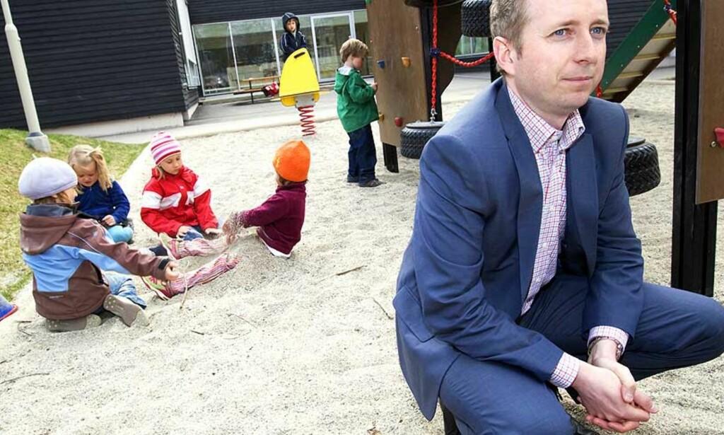 IKKE BILLIGERE: Det er fortsatt ikke full dekning og en barnehageplass vil koste det samme i 2009 som i år. Foto: Scanpix