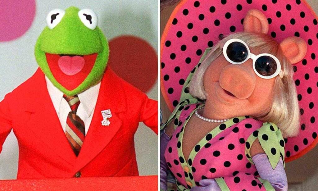 PEILING PÅ HOCKEY?: VIF-trener Espen Shampo Knutsen betegner hockeyforbundet som et muppetshow. Her representert ved Kermit the Frog og Miss Piggy. Foto: AP