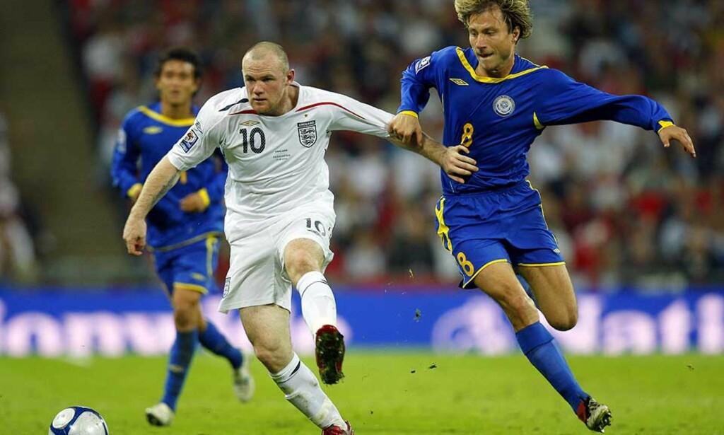 TOMÅLSSCORER: Wayne Rooney ser ut til å ha funnet tilbake til scoringsformen. Mot Kasakhstan ble det to fulltreffere for 22-åringen. Foto: AFP/Scanpix