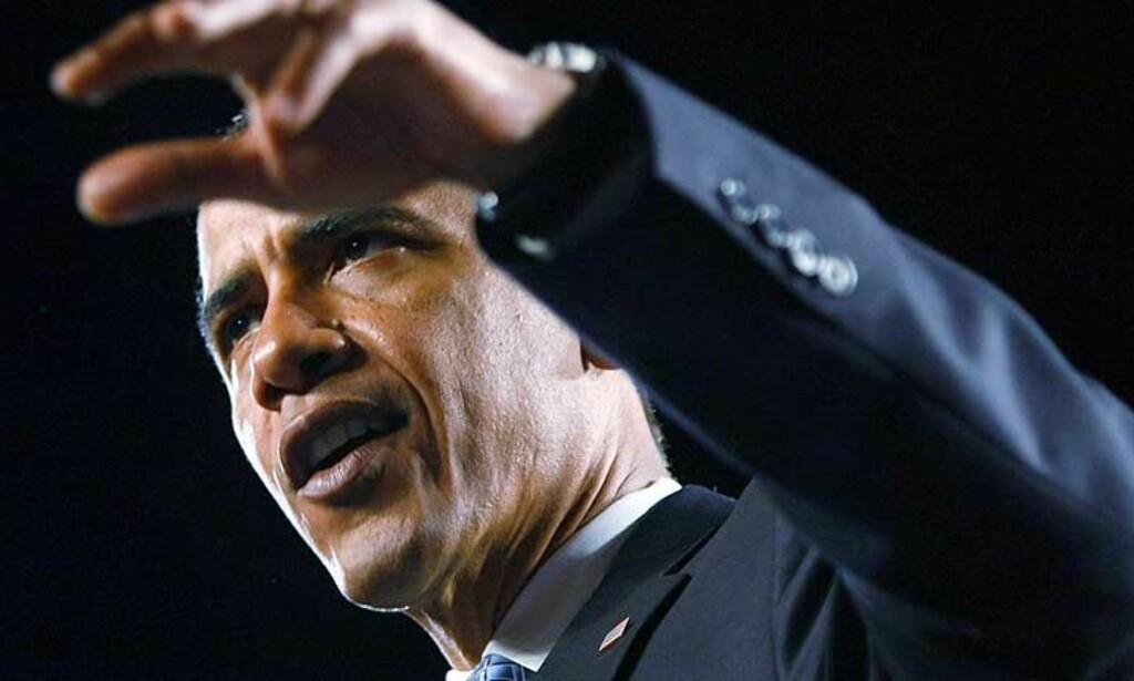 AMERIKANERNE LYVER IKKE LENGER I MENINGSMÅLINGER: Effekten av Obamas rase for valgutfallet er usikker, skriver Jan Arild Snoen i sin mediekritikk-spalte. Foto: Joe Raedle/Getty Images/AFP