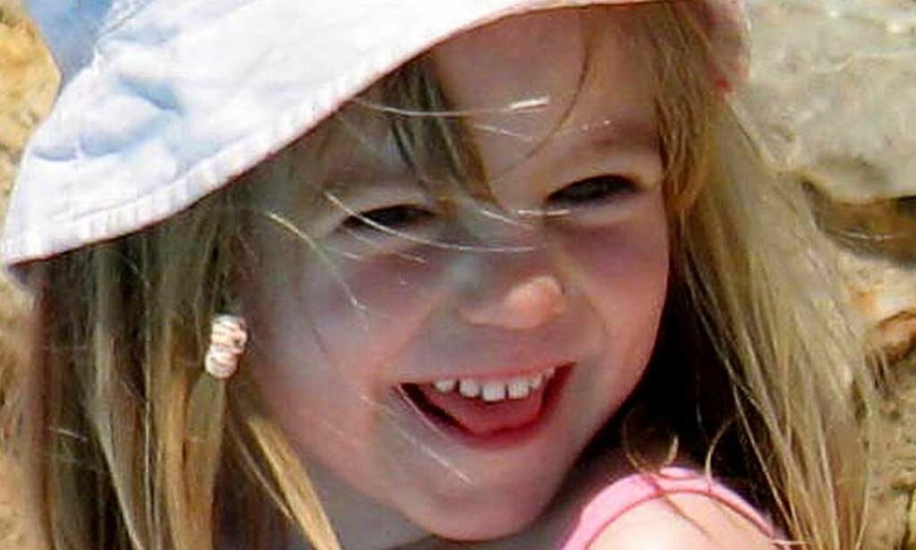 FORSVANT: Tre år gamle Madeleine McCann forsvant sporløst om kvelden 3. mai i fjor. Foto: AFP/SCANPIX
