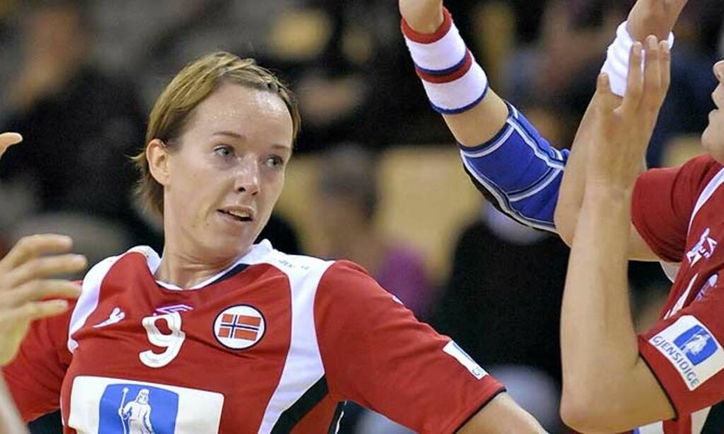 FINALEVANT: Kristine Lunde og Norge slo Frankrike og gikk til finalen i World Cup i Århus i ettermiddag. Foto: SCANPIX/ KLAUS FISKER