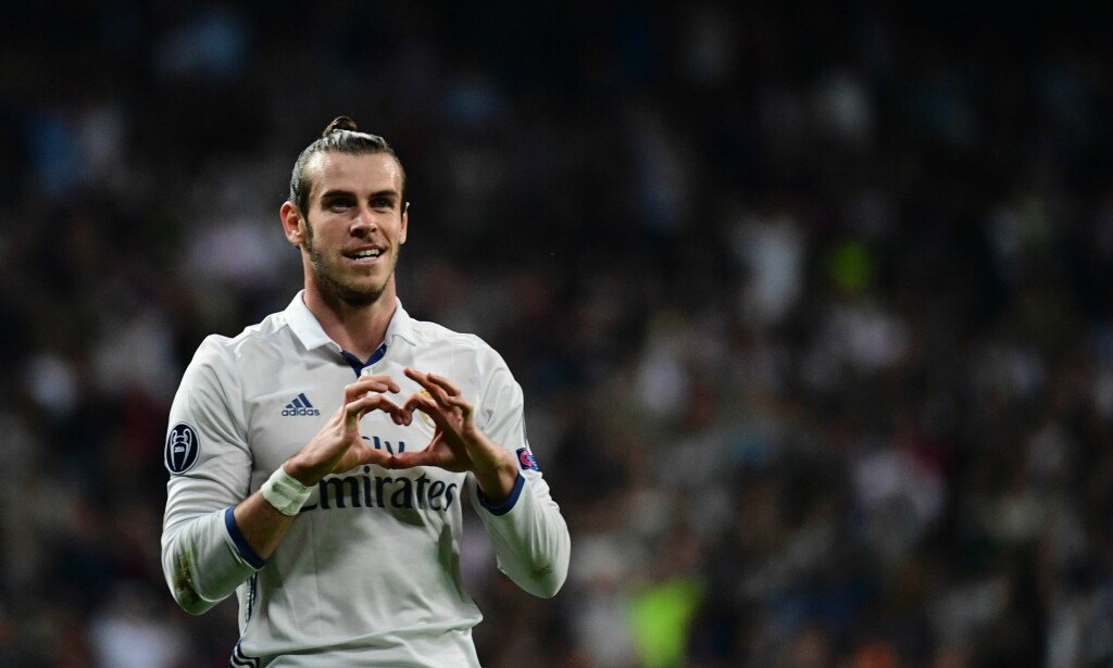 NUMMER SEKS: Real Madrids Gareth Bale. Foto: AFP PHOTO / PIERRE-PHILIPPE MARCOU
