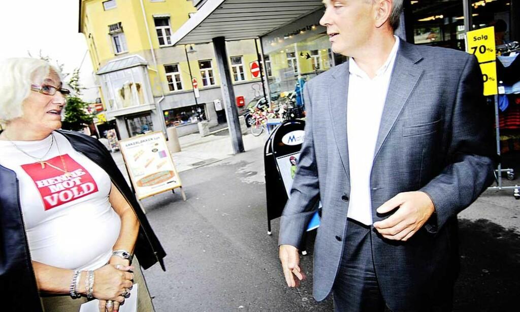 VILLE IKKE FORBY: Janni Wintherbauer, som leder Prostituertes interesseorganisasjon Norger og justisminister Knut Storberget var begge i mot forbudet, men Storberget tapte kampen i Stortinget. Foto: Thomas Rasmus Skaug