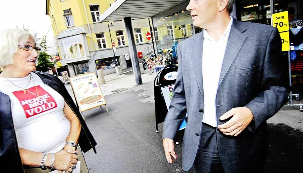 <b>VILLE IKKE FORBY:</b> Janni Wintherbauer, som leder Prostituertes interesseorganisasjon Norger og justisminister Knut Storberget var begge i mot forbudet, men Storberget tapte kampen i Stortinget. Foto: Thomas Rasmus Skaug