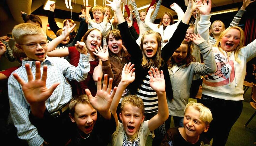<b>SMARTINGER:</b> Femte klasse ved Fjellfoten skole i Akershus er best sammenlagt i lesing, regning og engelsk. Det viser resultatene av de nasjonale prøvene, som ble kjent i går. Foto: Siv Seglem